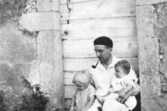 Avec sa fille Christine et son fils Jérôme