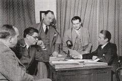Michel Saint-Denis, George Devine, Ralph Richardson, Laurence Olivier, John Burrell